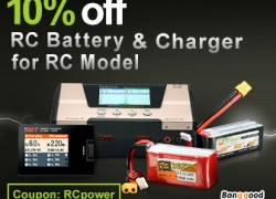 Extra 10% OFF for Collection RC Battery and Charger for RC Model from BANGGOOD TECHNOLOGY CO., LIMITED