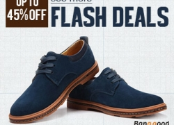 Flash Deals: Up to 45% OFF for the Shoes! from BANGGOOD TECHNOLOGY CO., LIMITED