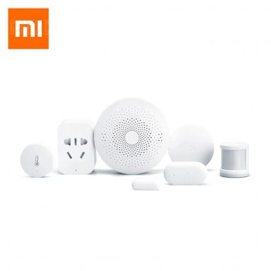 $79 with coupon for Xiaomi mijia 6 in 1 Smart Home Security Kit – WHITE from GearBest