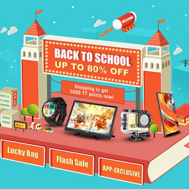 Back to School UP TO 80% OFF!  from Tomtop WW