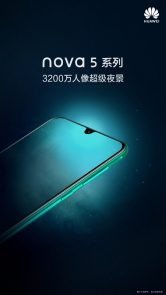Seria Huawei Nova 5 pentru a sprijini 32MP Selfie Shooter