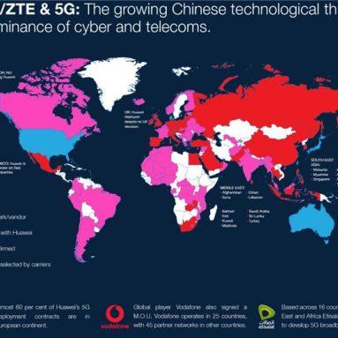 Hvilke lande tillader deres telekommunikation at købe Huawei's 5G-udstyr?