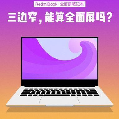 Xiaomi lancerà il suo primo RedmiBook a schermo intero su 10 di dicembre