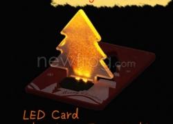 LED Christmas Card Pocket LED Card Christmas Tree Light-Only US$1.11 from Newfrog.com