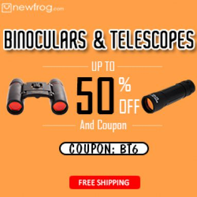 Binoculars & Telescopes up to 50% off + free shipping@Newfrog.com from Newfrog.com