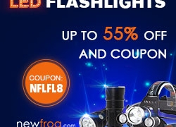 LED Flashlights – Up to 55% off and Coupon@Newfrog.com from Newfrog.com