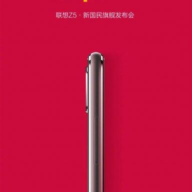 Lenovo Z5 Poster Shows Quite Slim Body