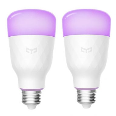 €32 with coupon for 2PCS Yeelight YLDP06YL E27 10W RGBW Smart LED Bulb Work With Amazon Alexa AC100-240V(Xiaomi Ecosystem Product) from BANGGOOD