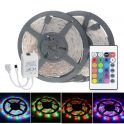 $8 with coupon for 2pcs HML 5m 24W 300 SMD 2835 RGB LED Strip Light  –  RGB COLOR from GearBest