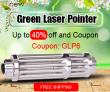 Zelený laserový ukazatel - až do 40% off a kupónu od společnosti Newfrog.com