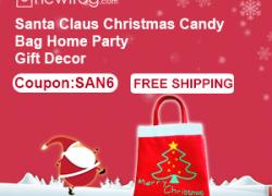 Santa Claus Christmas Candy Bag Home Party Gift Decor-Coupon:SAN6 from Newfrog.com