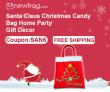 सांता क्लॉस क्रिसमस कैंडी बैग होम पार्टी उपहार सजावट-कूपन: Newfrog.com से SAN6