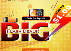 Big Flash Deals Low to US$1.00-Ends on 10th Sep from Newfrog.com