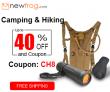 Berkemah & Hiking-Up hingga 40% off dan Kupon CH8 dari Newfrog.com