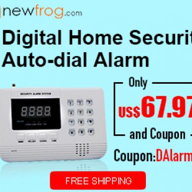 डिजिटल होम सिक्योरिटी Alfrog.com से अलार्म-केवल यूएस $ 67.97 और कूपन ऑटो-डायल करें