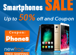 Smartphones Sale – Up to 50% off and Coupon@Newfrog.com from Newfrog.com