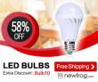 נורות LED, עד 58% הנחה, משלוח חינם מ Newfrog.com