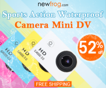 Sports Action Waterproof Camera Mini DV-Up to 52% Off from Newfrog.com