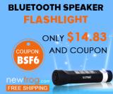 Haut-parleur Bluetooth Lampe-seulement $ 14.83 et Coupon de Newfrog.com