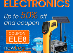 Electronics-Up to 50% off and Coupon: ElE8 from Newfrog.com