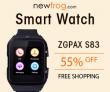 SfrNUMX ब्लूटूथ कलाई स्मार्ट वॉच-अप XfrX% से Newfrog.com से बंद