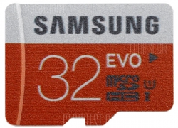 $13 with coupon for 32GB Samsung Class 10 48MB/s TF / Micro SD UHS – I Memory Card  – ORANGE from GearBest