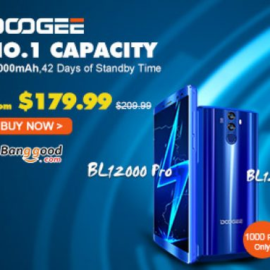 Only $179.99 for DOOGEE BL12000 12000mAh 4GB RAM 32GB ROM 4G Smartphone from BANGGOOD TECHNOLOGY CO., LIMITED