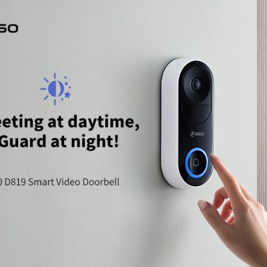 $89 with coupon for 360 D819 Smart Video Doorbell from GEARBEST