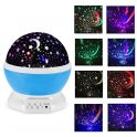 $9 flashsale for 360 Degree Electric Rotating Cosmos Projector Night Lamp  –  BLUE from GearBest
