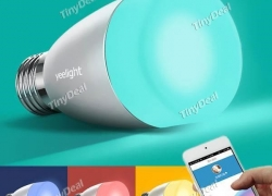 11%OFF for Yeelight Mi light E27 6W Smartphone Bluetooth App Remote Control Light RGB Color for iPhone 6 Plus iOS Android for Free shipping @TinyDeal! from TinyDeal