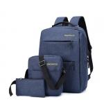 11 s kupónem pro 3Pcs Sada batohů 20.8L 15.6-palcový USB nabíjecí taška na notebook Vodotěsná taška přes rameno taška na tašku pro cestování z BANGGOOD