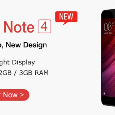 32%OFF for XIAOMI REDMI NOTE 4 Helio X20 Deca-core 5.5″ FHD Android 6.0 4G Phone from TinyDeal