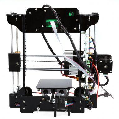 $ 129 với phiếu giảm giá cho 3D Máy in DIY Kit - EU PLUG BLACK từ GearBest