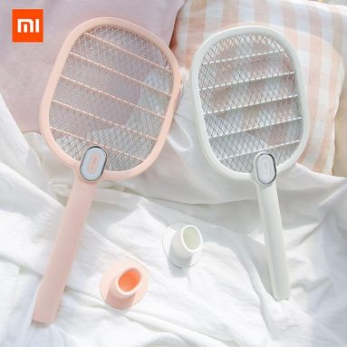 €12 with coupon for 3life Electric Mosquito Swatter Mosquito Dispeller Rechargeable LED Electric Insect Bug Fly Mosquito Killer Racket 3-Layer Net – Pink from BANGGOOD