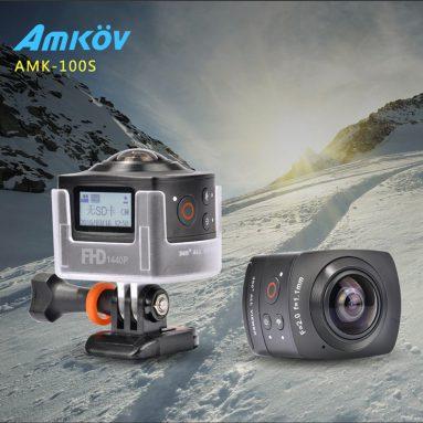 $ 4 av COUPON for AMKOV AMK100S Mini VR-kamera fra Geekbuying