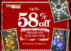 15% OFF LED Lighting Promotion for New Year from BANGGOOD TECHNOLOGY CO., LIMITED