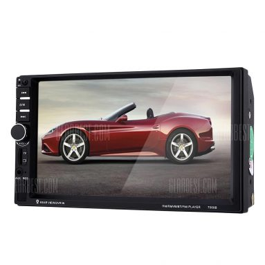 $ 39 z kuponem dla 7060B 7 calowy Car Audio Stereo Odtwarzacz MP5 z aparatem czarnym od GearBest