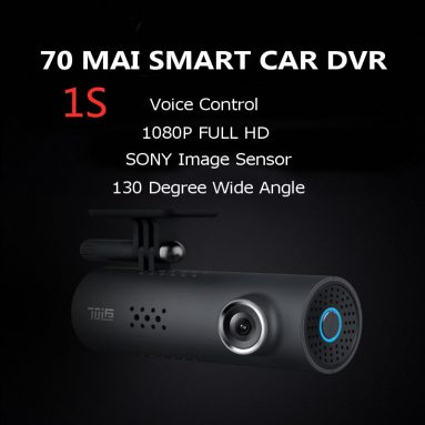 $31 with coupon for 70mai 1S Smart Midrive D06 Car DVR 1080P English Version Voice Control IMX307 Sensor 130 Degree from Xiaomi from BANGGOOD