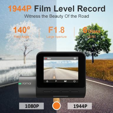 €48 with coupon for 70mai Pro Midrive D02 English Russian 1944P Car DVR Camera SONY IMX335 Sensor 140 Degree from Xiaomi Youpin – English Version UK warehouse from BANGGOOD