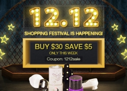 12.12 Shopping Festival is Happening-Buy $30 Save $5 from Newfrog.com