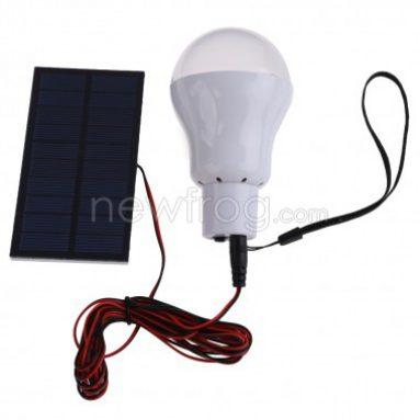 पोर्टेबल सौर ऊर्जा एलईडी बल्ब लैंप आउटडोर प्रकाश-केवल Newfrog.com से यूएस $ 6.99
