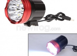 15000 Lumen 20000mAh 9x CREE XM-T6 LED Head Front Bicycle Light Bike Lamp-Up To 45% Off from Newfrog.com