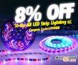8% vypnuto pro všechny LED pásy Osvětlení od společnosti BANGGOOD TECHNOLOGY CO., LIMITED