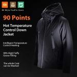 105 z kuponem na inteligentną kurtkę puchową 90 FUN od Xiaomi Youpin Automatyczne ogrzewanie Wodoodporne pióro gęsie od BANGGOOD
