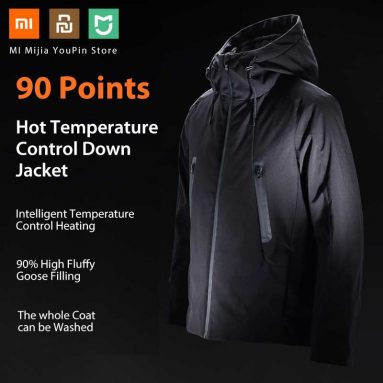€104 with coupon for  XIAOMI YOUPIN 90FUN IP64 Men Winter Electric Heated Jacket from EU CZ warehouse BANGGOOD