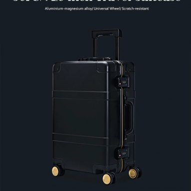 €414 with coupon for 90FUN 20 inch Travel Suitcase with Universal Wheel – BLACK INTELLIGENCE from GearBest