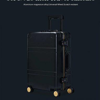 € 414 90FUN के लिए कूपन के साथ 20 इंच यूनिवर्सल व्हील के साथ यात्रा सूटकेस - गियरबेस्ट से ब्लैक इंटेलीजेंस