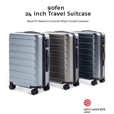 XEMomi Youpin से 112FUN 90 इंच यात्रा सूटकेस यूनिवर्सल व्हील के लिए कूपन के साथ $ 24 - गियरबेस्ट से खाकी