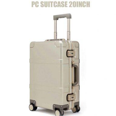 397FUN पीसी सूटकेस के लिए कूपन के साथ € 90 Xiaomi Youpin से 20 इंच - GearBest से गोल्डन आम संस्करण
