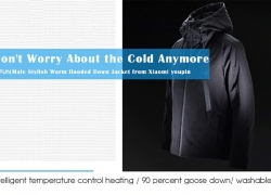 $119 with coupon for 90FUN Stylish Hooded Down Jacket from Xiaomi youpin from GearBest